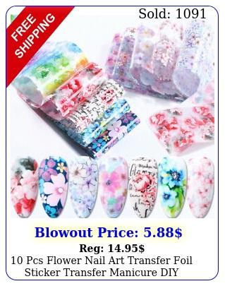 pcs flower nail art transfer foil sticker transfer manicure di