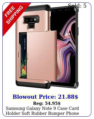 samsung galaxy note case card holder soft rubber bumper phone cover rose gol