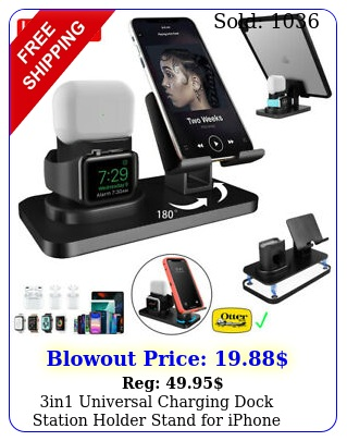 in universal charging dock station holder stand iphone apple watch airpod