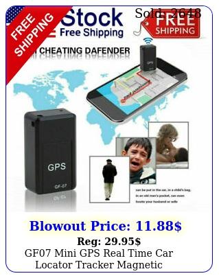 gf mini gps real time car locator tracker magnetic gsmgprs tracking device u
