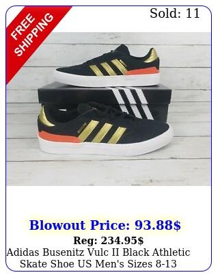 adidas busenitz vulc ii black athletic skate shoe us men's size
