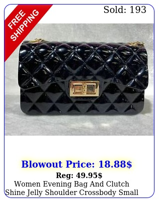 women evening bag clutch shine jelly shoulder crossbody small cute purs