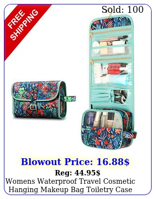 womens waterproof travel cosmetic hanging makeup bag toiletry case storage pouc