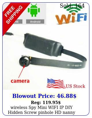 wireless spy mini wifi ip diy hidden screw pinhole hd nanny camera video dv