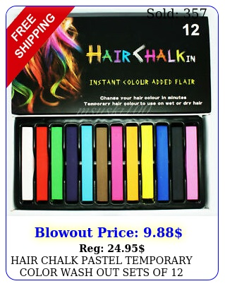 hair chalk pastel temporary color wash out sets o