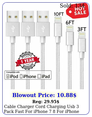 cable charger cord charging usb pack fast iphone  iphone x charge