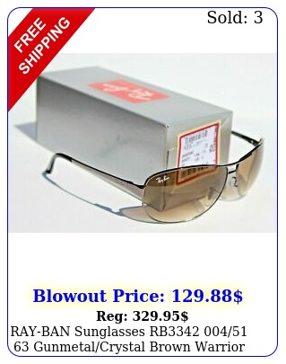 rayban sunglasses rb  gunmetalcrystal brown warrior ital