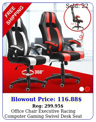 office chair executive racing computer gaming swivel desk seat chair pu leathe