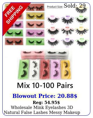 wholesale mink eyelashes d natural false lashes messy makeup fake lashes bul