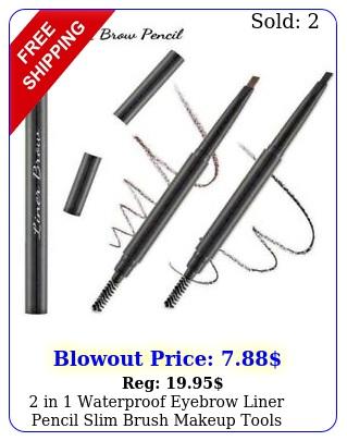 in waterproof eyebrow liner pencil slim brush makeup tool