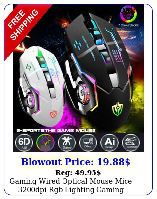 gaming wired optical mouse mice dpi rgb lighting gaming computer ps xbo