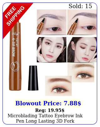 microblading tattoo eyebrow ink pen long lasting d fork waterproof pencil bro