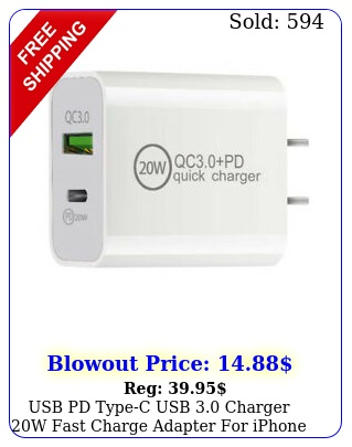 usb pd typec  usb charger w fast charge adapter iphone  pro ma