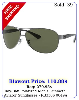 rayban polarized men's gunmetal aviator sunglasses rb a  ital