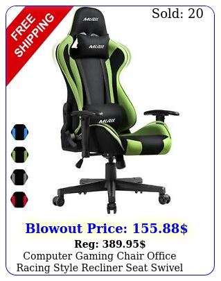 computer gaming chair office racing style recliner seat swivel highback chai