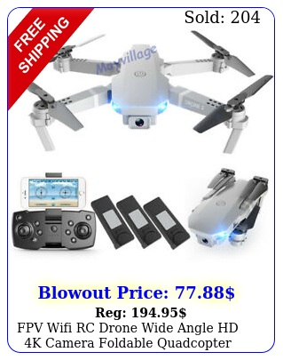 fpv wifi rc drone wide angle hd k camera foldable quadcopter selfie  batter