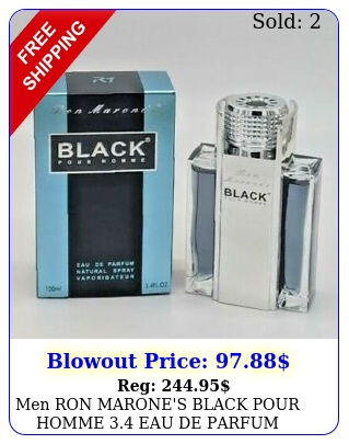 men ron marone's black pour homme eau de parfum brand seale