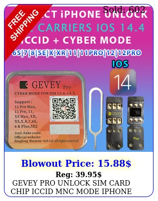 gevey pro unlock sim card chip iccid mnc mode iphone ios video instruction