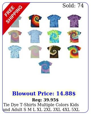 tie dye tshirts multiple colors kids adult s m l xl xl xl xl xl cotto