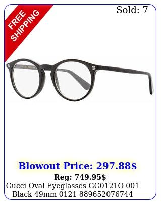 gucci oval eyeglasses ggo black m