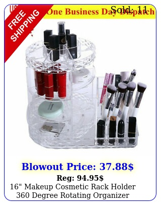 makeup cosmetic rack holder degree rotating organizer storage cas
