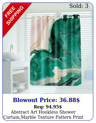abstract art hookless shower curtainmarble texture pattern print curtain b