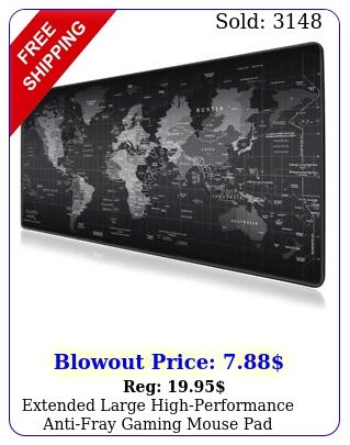 extended large highperformance antifray gaming mouse pad computer keyboard ma