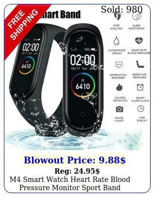 m smart watch heart rate blood pressure monitor sport band wristband tracke