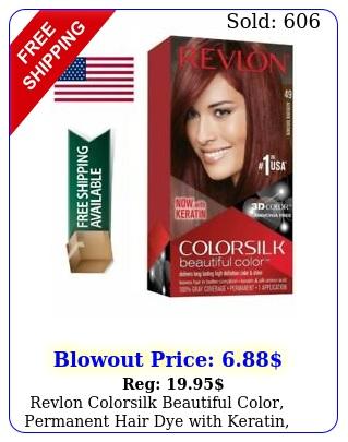 revlon colorsilk beautiful color permanent hair dye with keratin gray co