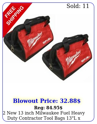 inch milwaukee fuel heavy duty contractor tool bags l x w x