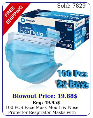 pcs face mask mouth nose protector respirator masks with filter usa selle