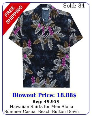 hawaiian shirts men aloha summer casual beach button down cruise vacatio