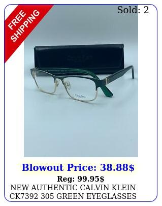 authentic calvin klein ck green eyeglasses frame rx fast shi