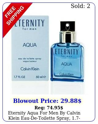 eternity aqua men by calvin klein eaudetoilette spray ounc
