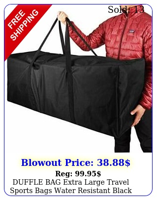 duffle bag extra large travel sports bags water resistant black inch coolbeb