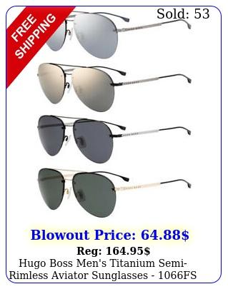 hugo boss men's titanium semirimless aviator sunglasses f