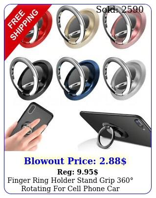 finger ring holder stand grip rotating cell phone car magnetic moun