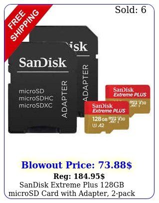 sandisk extreme plus gb microsd card with adapter pac