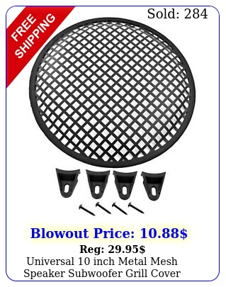 universal inch metal mesh speaker subwoofer grill cover waffle style w clip
