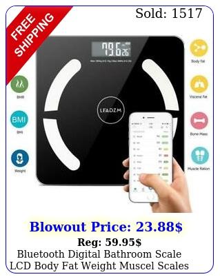 bluetooth digital bathroom scale lcd body fat weight muscel scales kglb