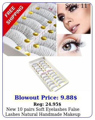 pairs soft eyelashes false lashes natural handmade makeup glam las
