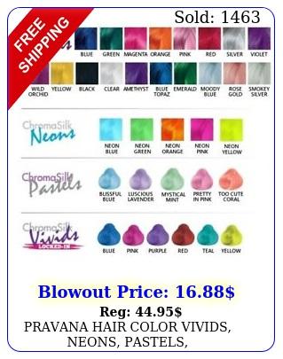 pravana hair color vivids neons pastels jewelcrystals oz big tub