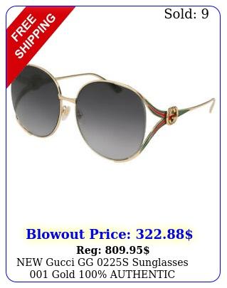 gucci gg s sunglasses gold authenti
