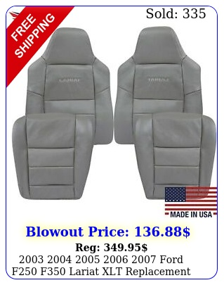 ford f f lariat xlt replacement seat covers gra