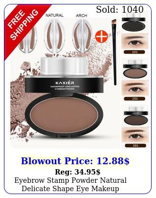 eyebrow stamp powder natural delicate shape eye makeup waterproof mirror ge