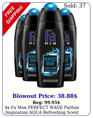 x fa men perfect wave parfum inspiration aqua refreshing scent body hair was