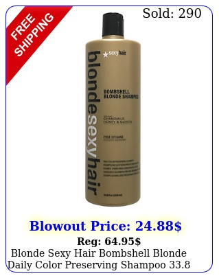 blonde sexy hair bombshell blonde daily color preserving shampoo o