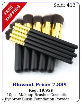 pcs makeup brushes cosmetic eyebrow blush foundation powder kit set pro beaut