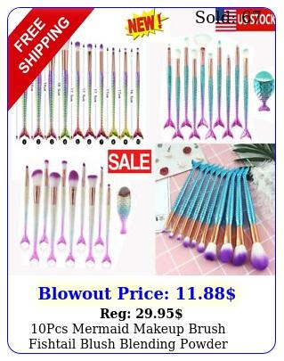 pcs mermaid makeup brush fishtail blush blending powder cosmetics brush ho