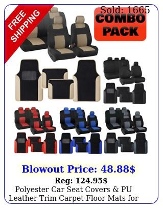 polyester car seat covers pu leather trim carpet floor mats auto se